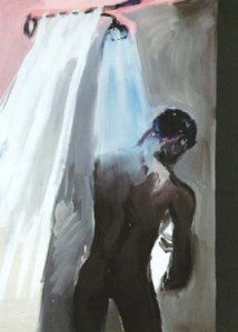 Rainer Fetting - Man In Shower II